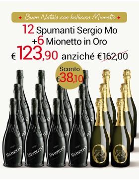 Sergio MO e Mionetto in ORO Speciale 18 bottiglie
