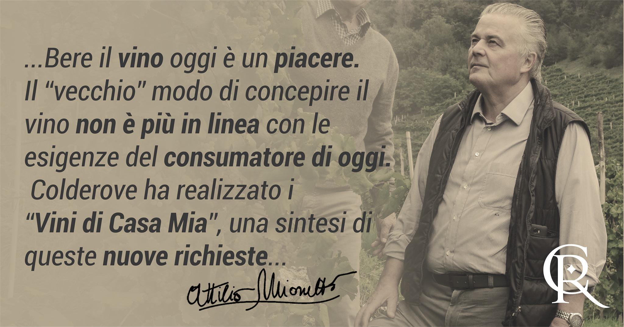 Attilio Mionetto e i Vini di Casa Mia