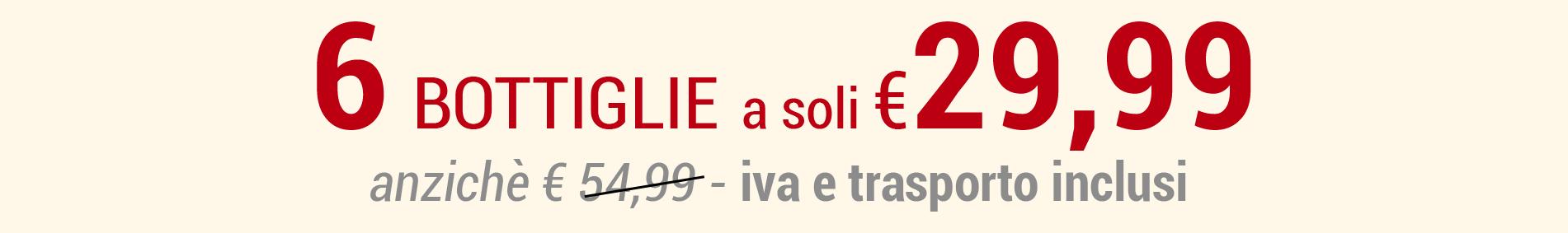 6 bottiglie colderove a soli eur 21,99