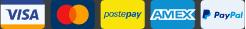Visa, Mastercard, PostePay, American Express, PayPal